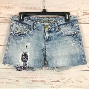 American Eagle Light Wash Distressed Jean Shorts